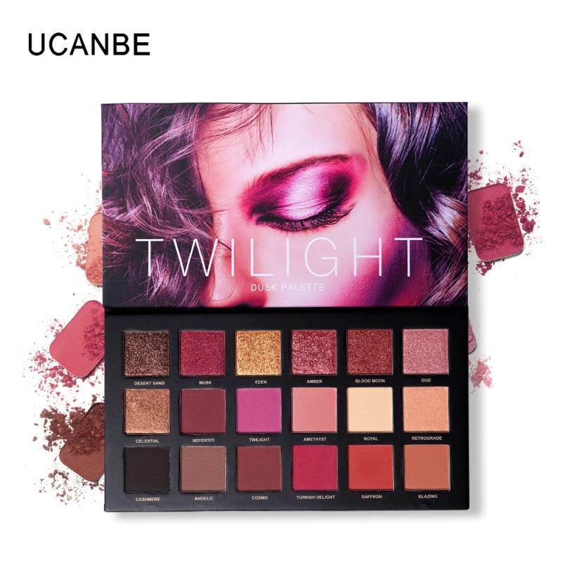 UCANBE Brand 18 Colors Eyeshadow Pressed Palette Charm Women Shimmer Matte Chrome Pigmented Sexy Smoky Makeup Eyeshadow Cosmetic ucanbe brand eyeshadow makeup palette shimmer matte radiant pigmented cosmetic eye shadow powder natural sexy eye plate