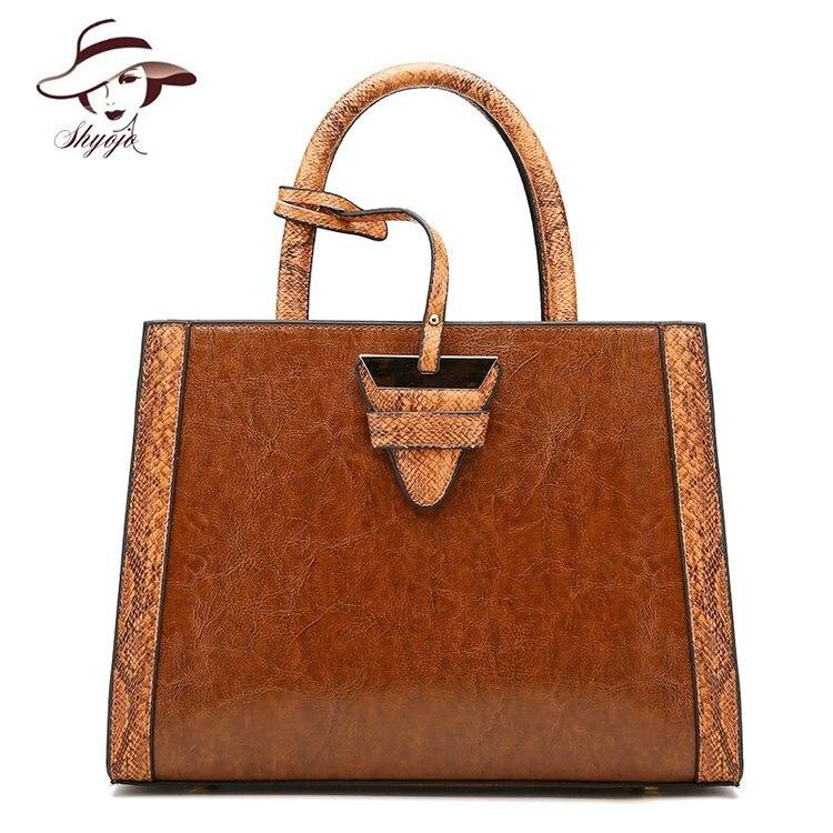 Luxury Brand Fashion High Quality Snakeskin Serpentine Pattern Women Messenger Bags Large PU Leather Shoulder Crossbody Handbag