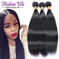 2017 Queen Hair Products Бразильские Волосы Девственницы Прямо 3 bundels Необработанные Девственных Человеческого Волоса Бразильские Прямых Волос, Плетение