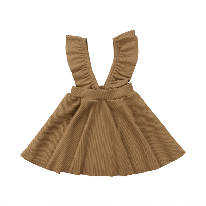 Fashion Kid Baby Girls Dress 2018 New Ruffle V-neck Princess Flower Pageant Party Tutu Strap Dresses Jumper