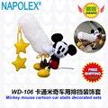 Acessórios do carro dos desenhos animados de mickey mouse luvas travão de mão WD-106 frete grátis