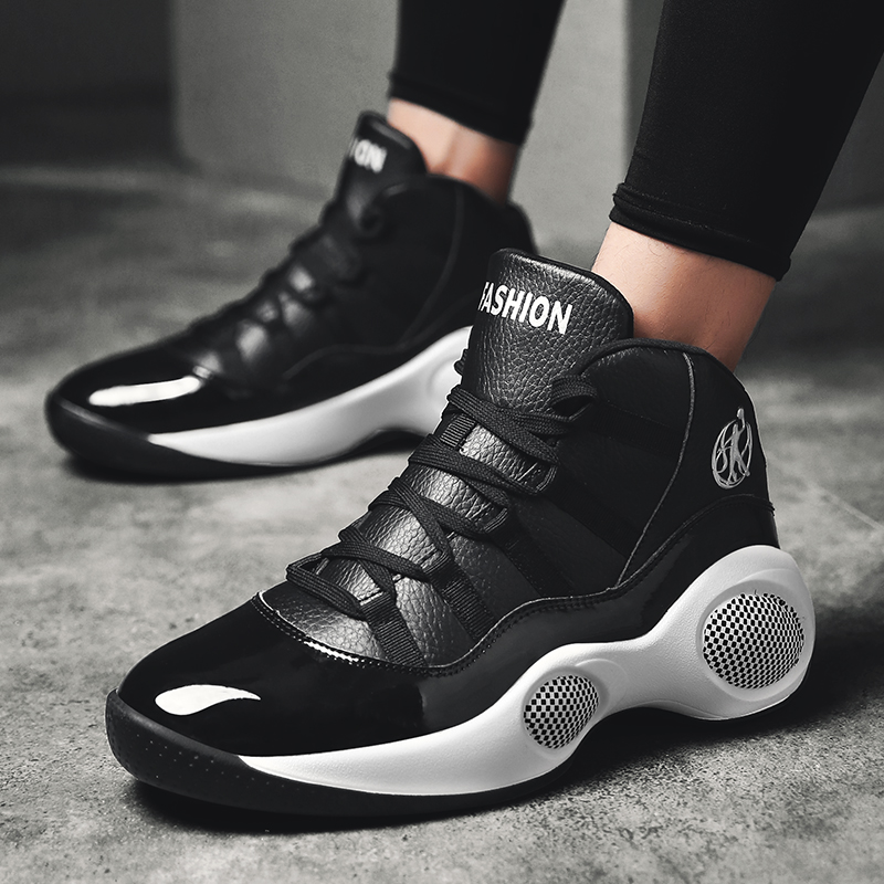 34c18bbc03b Original Professional Men Basketball Shoes Air Cushion Boost High Ankle Top  Sneakers Footwear Sport LBJ 11 Homme Outdoor Trainer-in Basketball Shoes  from ...