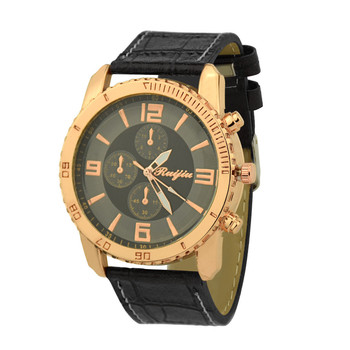 Fashion Leather Men's Quartz Watch Luxury Casual Watch Clock Men's watch Wrist Party decoration suit Dress Watch gifts male man