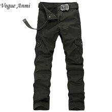 Vogue Anmi Marke Militärarmee Cargo Pants Plus Größe multi-tasche Overalls Hose Männer 4 Farbe Freies Verschiffen 1516