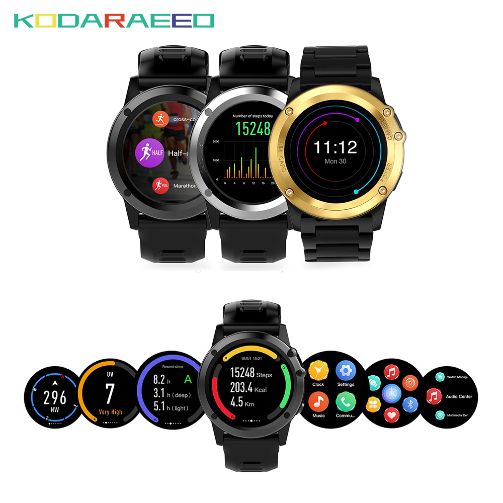 H1 Smart Watch Android 4.4 OS Sports Smartwatch phone MTK6572 512MB 4GB ROM GPS SIM 3G Heart Rate tracker Camera IP68 Waterproof