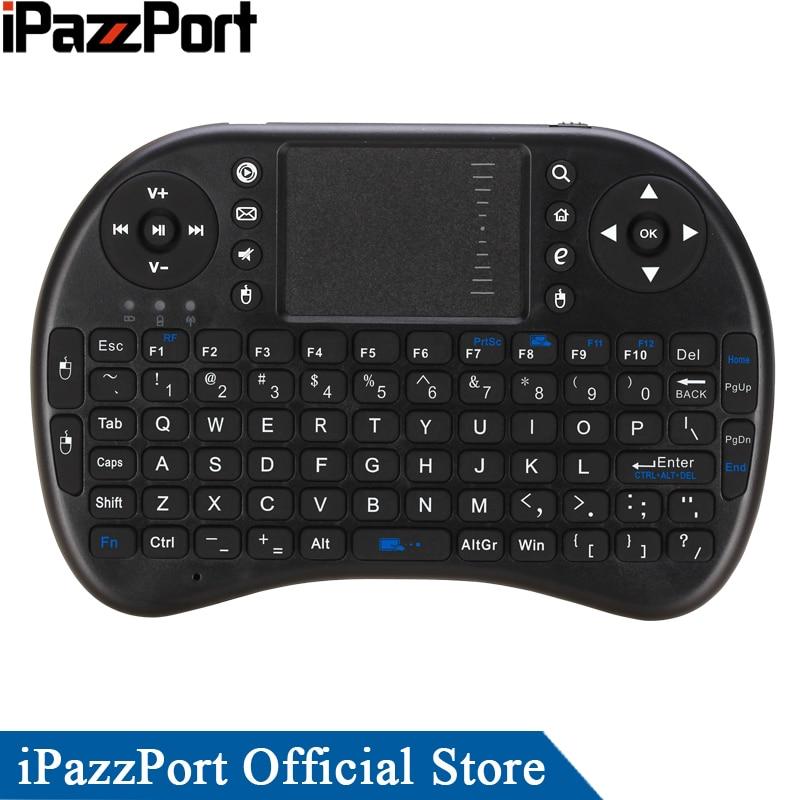 חם למכור iPazzPort אנגלית מקלדת אלחוטית מיני עכבר קומבו עם TouchPad עבור אנדרואיד טלוויזיה Box / Smart TV / פספי פי / מיני PC