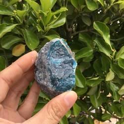 115 г Натуральный Необработанный Синий Апатит минеральный фильтр для очистки воды камень образец