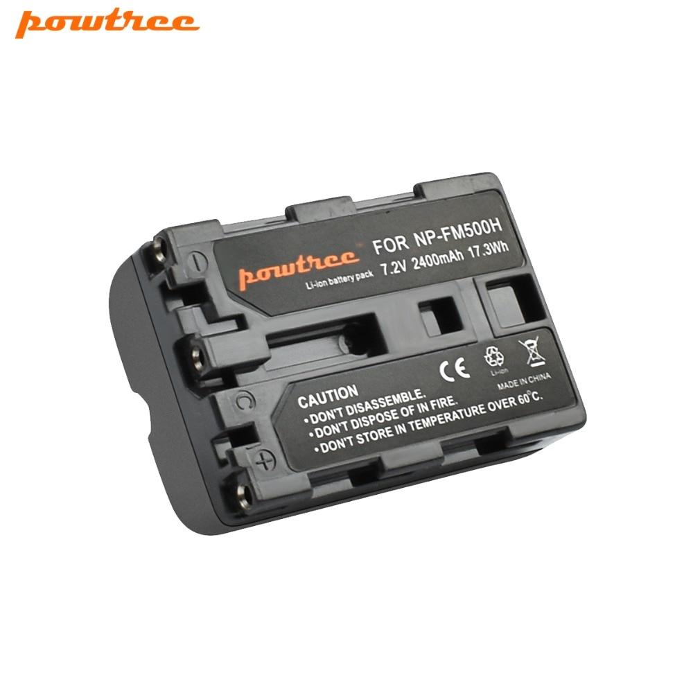 2400mAh NP-FM500H NP FM500H NPFM500H FM500 Camera Battery For Sony A57 A58 A65 A77 A99 A550 A560 A580 Battery NP-FM500H L20