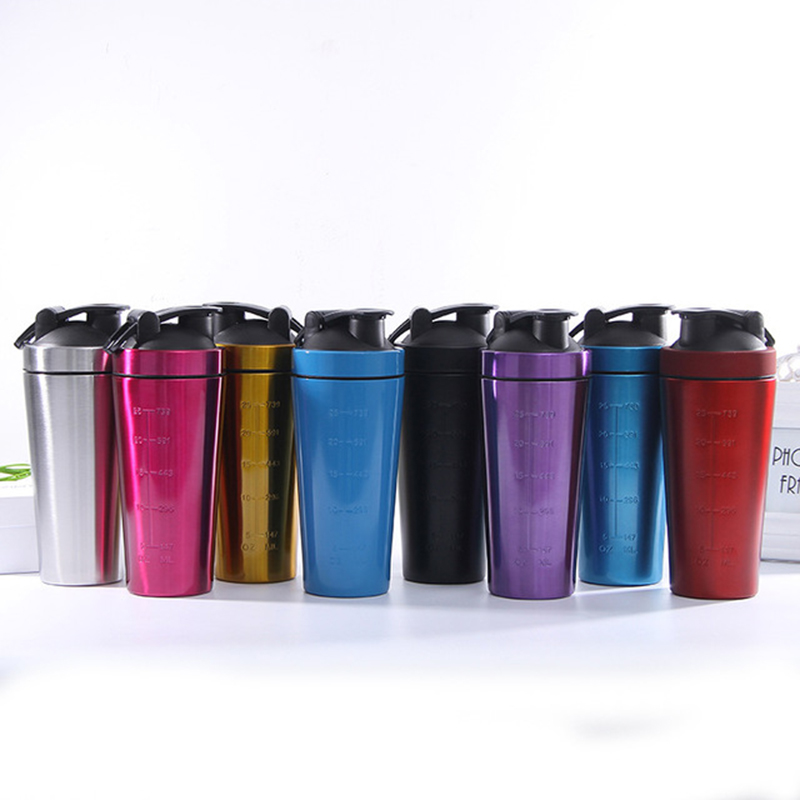 960ML Outdoor Sports Travel Protein Shaker Bottles Portable Stainless Steel Whey Protein Powder Mixing Bottle For Sports Camping image