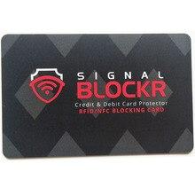 1000Pcs Anti Theft Credit Card Protector RFID Blocking Card 13.56MHZ RFID Card NFC Signal Shield Protect Passport Information