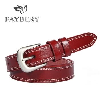 цена на High Quality Cowskin Leather Belts for Women Genuine Leather Belt Luxury Brand Decorative Simple Waist Belt Candy Color 110cm