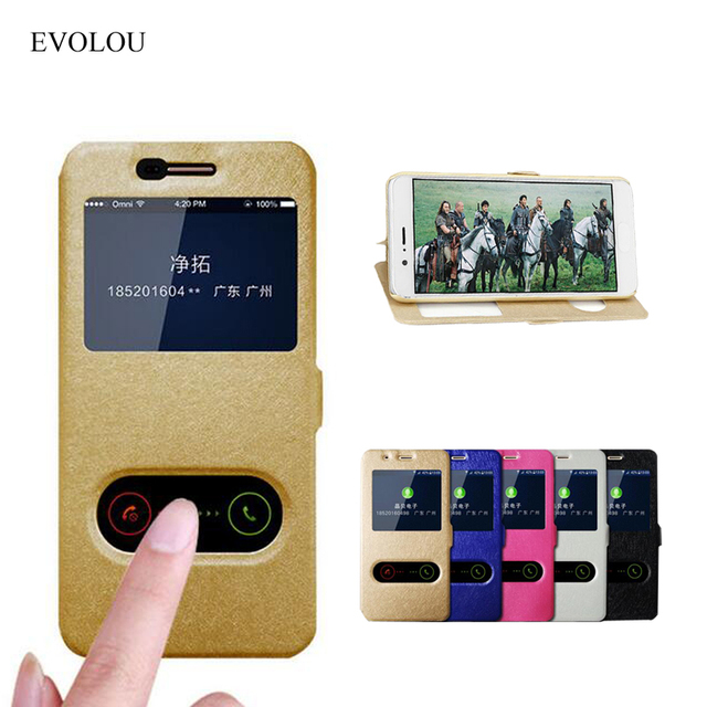 View Window Leather Case For Lenovo A916 / K3 A6000 Quick Answer Flip Cover for A 916 Lemon K30-T K30-W Mobile Phone Bag Cases