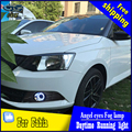 CDX car styling angel eyes fog light for Skoda Fabia 2015 year LED fog lamp LED Angel eyes LED fog lamp Accessories