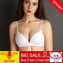 fa6fe9c95095f7 Perfering Black Bra Wire Free Push Up Sexy Women Bras Lace Bralette  Lingerie Small Breast Adjusts
