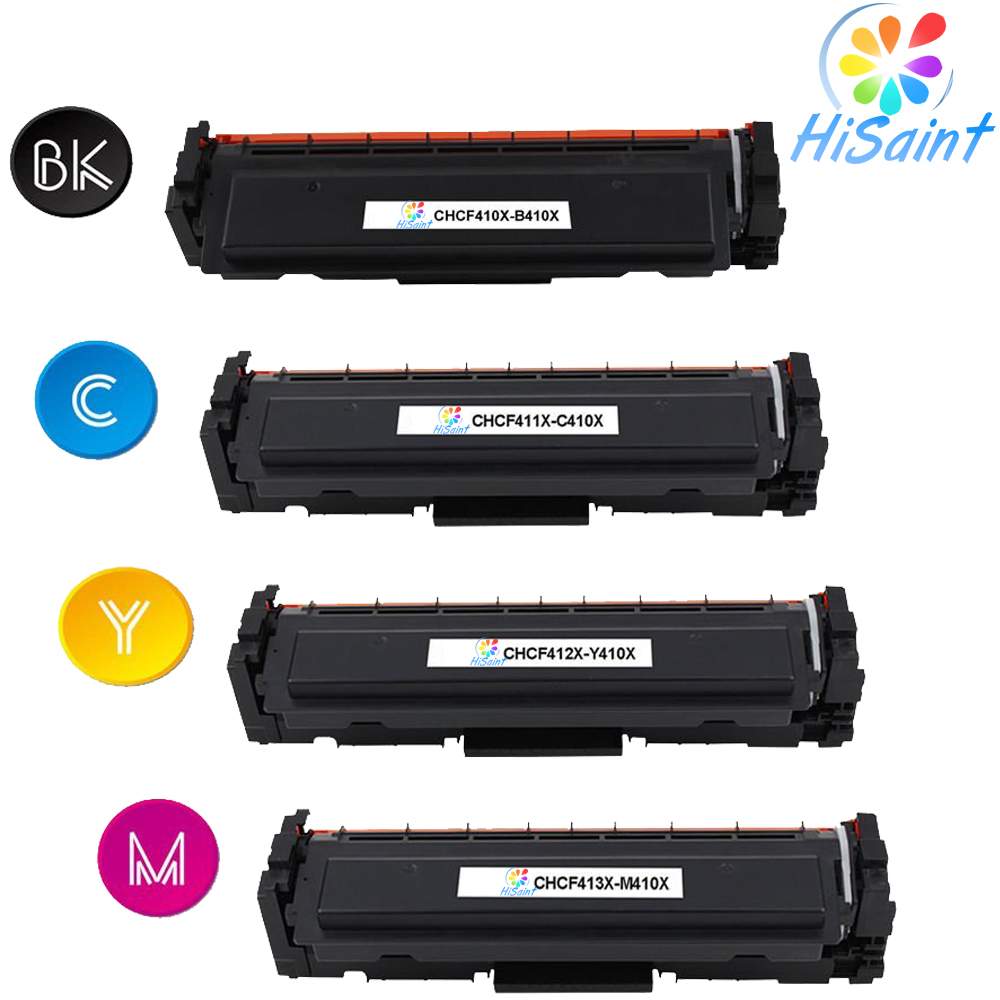 Hisaint Listing Hot Compatible Toner Cartridge for CF410X CF411X CF412X CF413X for HP LaserJet ( CMY-5000 K-6500 Page) 8 500 page high yield toner cartridge for dell b2360 b2360d b2360dn b3460dn b3465dn b3465dnf laser printer compatible 2 pack page 1