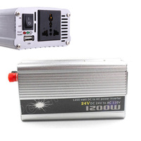 DC 24V to AC 110V power Inverter voltage transformer 1200W USB Auto Car Charger Adapter modified sine wave Converter