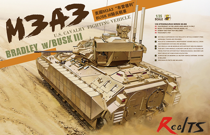 RealTS Meng Model 1/35 SS-006 M3A3 U.S.CAVALRY FIGHTING VEHICLE BRADLEY w/BUSK III realts out of print product village house w base diorama building 1 35 miniart 36031