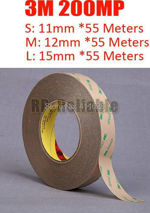 1x 11mm (or 12mm/15mm)*50M LED Strip Panel Display Using Clear Double Adhesive Tape, <font><b>3M</b></font> <font><b>200MP</b></font>, Waterproof, Strong Sticky image