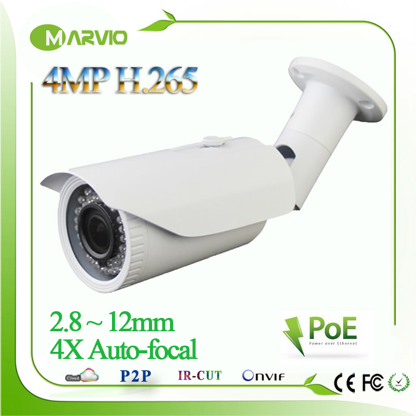 H.265/H.264 960P/1080P 4MP 2592*1520  Motorized 2.8-12mm Lens Bullet Network IP Camera POE IPCam IP67 Waterproof Camara CCTV h 265 h 264 960p 1080p 4mp 2592 1520 motorized 2 8 12mm lens bullet network ip camera poe ipcam ip67 waterproof camara cctv