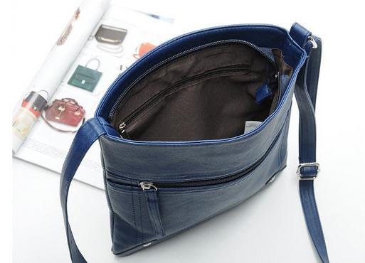 Women Cross Body Bags 2018 New Shoulderbag Men  Messenger Bag Handbag PU Leather Solid Color Satchel 4 Color 4