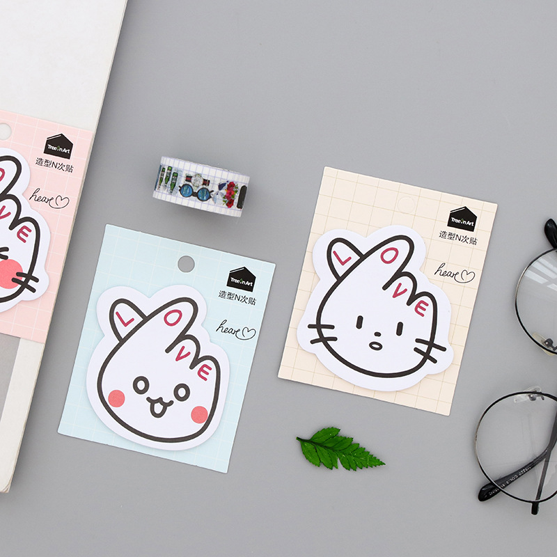 1 pcs/Lot Expression sticky notes Cartoon memo pad Post it paper sticker Stationery Office accessories School supplie BLT55