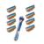 8 unidades/pacote novo 5 camada de barbear lâminas de barbear + 1 pcs titular de barbear manual de barbear navalha de barbear de qualidade normal padrão para os homens