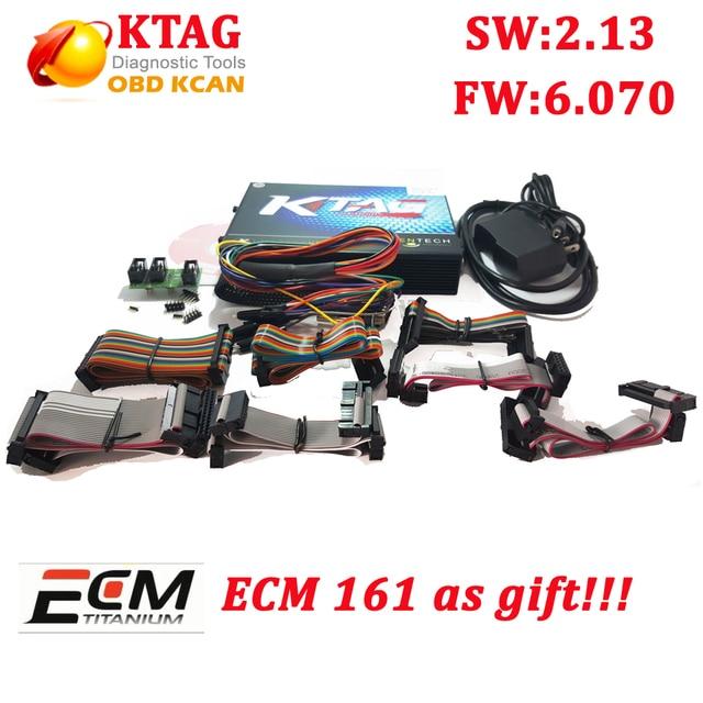 New K TAG V2.13 HW 6.070 ECU Programmer KTAG Master Version No Tokens Limited K-TAG ECU Chip Tuning tool get free ECM Titanium