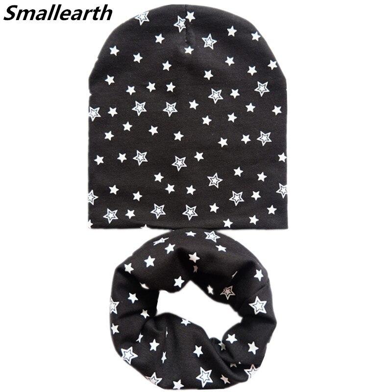 2020 New Autumn Winter Cotton Baby Hat Sets Crochet Children Scarf Hat Set Boys Girls Hat Collar Set Warm Child Cap Scarf 2pcs