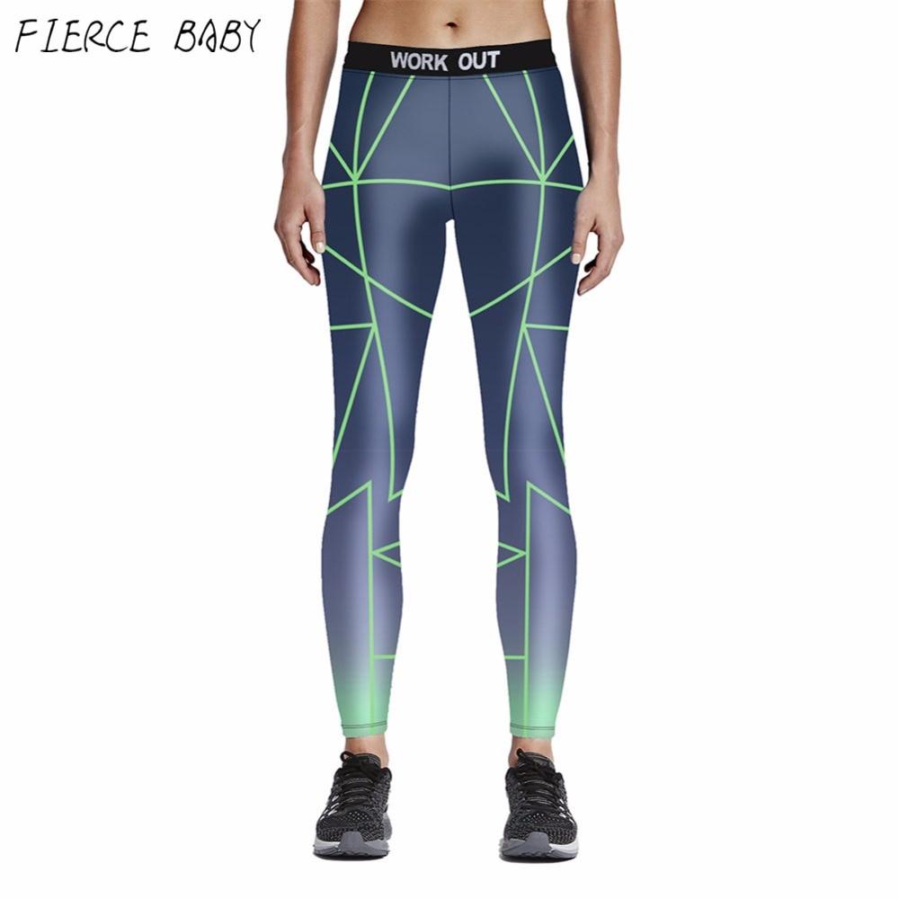 Gradient Printed Color Sporting Leggings 2017 New Gym Slim Leggins Sexy Sporting Leggings Women Pants Plus Size XL XXL XXXL kiind of new blue women s xl geometric printed sheer cropped blouse $49 016
