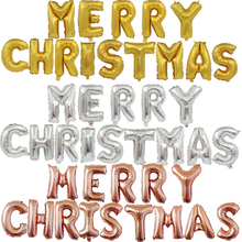16 Inches Merry Christmas Letter Set Party Decoration Aluminum Film Balloon For Foil
