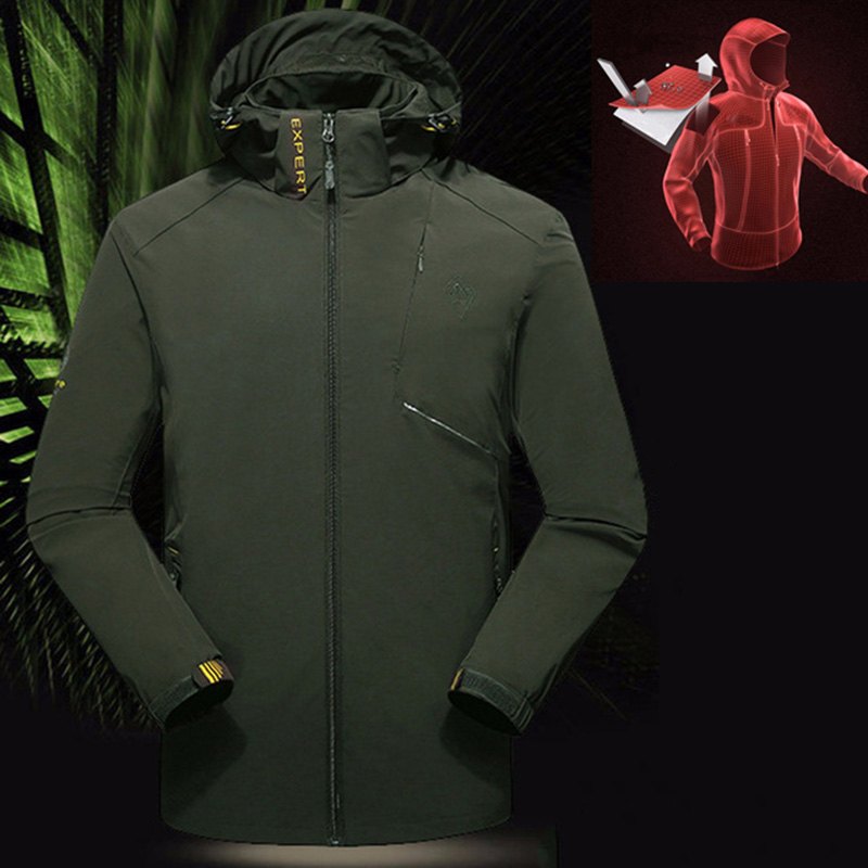 Military Tactical Jacket Men Soft Shell Jackets Outdoor Hiking Hunting Clothes Sports Coat Waterproof Single Layer Rain Clothing lurker shark skin soft shell v4 military tactical jacket men waterproof windproof warm coat camouflage hooded camo army clothing