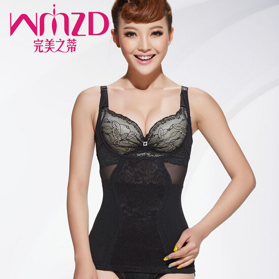 8803 Women Body Shaper Tops Lace Slimming Vest Seamless Tummy Control Shapewear Maternal tops