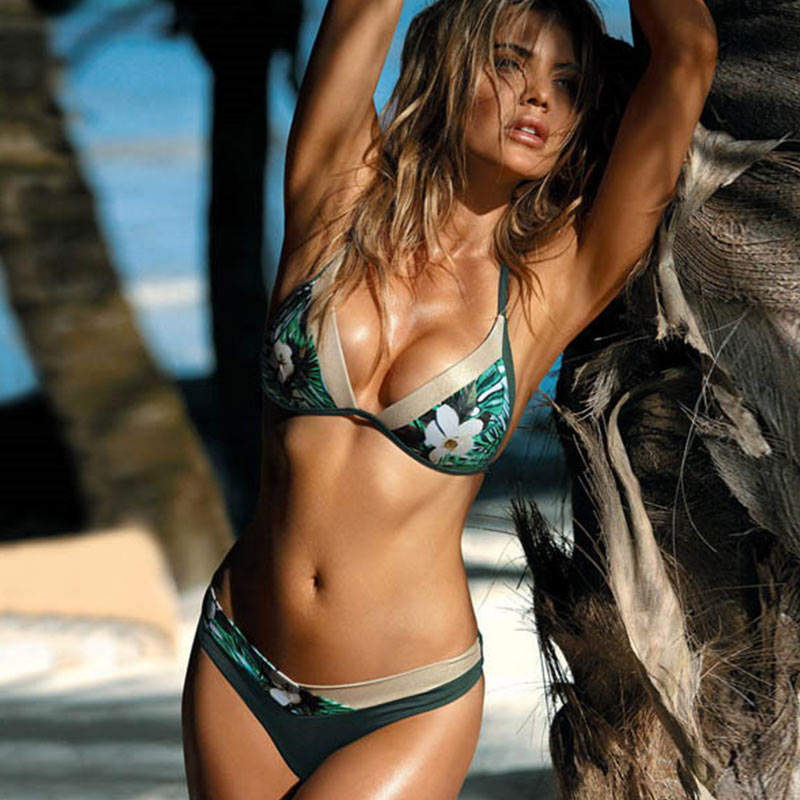 HTB1vc3CeG5s3KVjSZFNq6AD3FXai Miyouj Sexy Leopard Bikini Push Up Deep V Swimsuit Female Hollow Out Bathing Suit Women Snake Skin Print Biquini Halter Bikinis