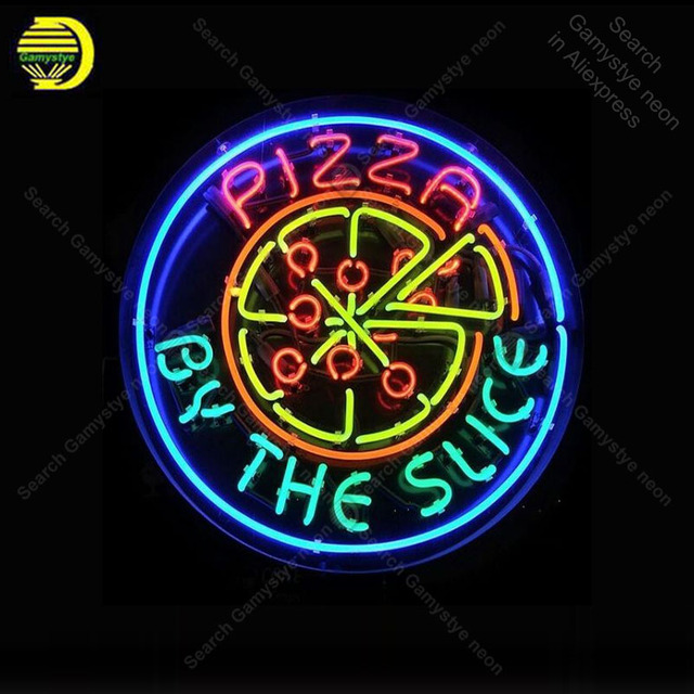 Neon Sign for Pizza by Slice decor Home Display Beer Express shop Neon Light up wall sign Handicraft Neon Signs for Room Letrero
