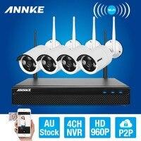 ANNKE 4CH CCTV System Wireless 960P NVR DVR 4PCS 1 3MP IR Outdoor P2P Wifi IP