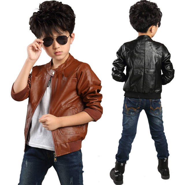 Online Shop 2018 New Brand Fashion Children S Pu Leather Motorcycle