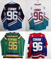 Mighty Ducks Movie Jersey 96 Charlie Conway All Colors Hockey Jersey Stitched