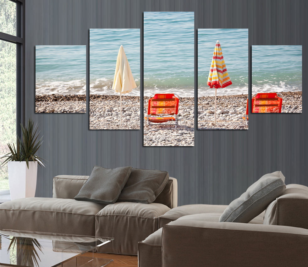Paintings canvas deco kit home seaside ref 53213557