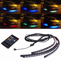Car Atmosphere Light Wireless Music Control 7 Color RGB Interior Decor Light Kit 5050SMD Automotive Chassis