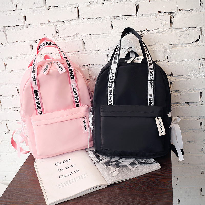 Menghuo Large Capacity Backpack Women Preppy School Bags For Teenagers Female Nylon Travel Bags Girls Bowknot Backpack Mochilas (55)