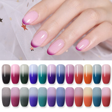 NICOLE DIARY 10g Thermal Dipping Nail Powder Gray Black Temperature Color Changing Without Lamp Cure Art Decorations