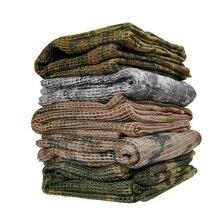 190*90 см, хлопковый военный Камуфляжный Тактический сетчатый шарф, снайперская вуаль для лица, для кемпинга, охоты, многофункциональные походные шарфы