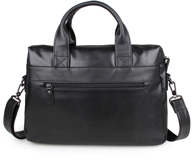 Casual Handbag Of brown Lapot Messenger First Black 15inch Leather Men Briefcase Business Bag Layer Shoulder rY4wr