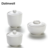 Japanese Style Fast Food Restaurant White Plastic Melamine Soup Tureen Stewing Pot Chafing Dish Small Miso
