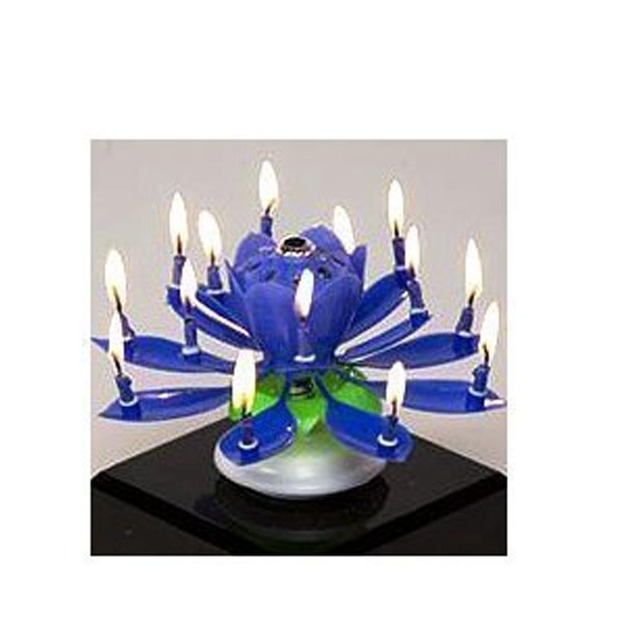 Comfortable Life The Amazing Happy Birthday Candle Blue Free Shipping Wholesale A05