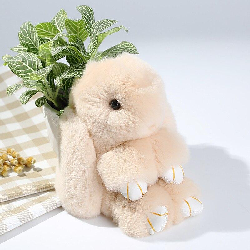 14 см мягкий кролика рекс Мех животных S подвеска брелок сумка автомобилей Шарм тег милые мини-кролик игрушка кукла Натуральный мех животног... ...