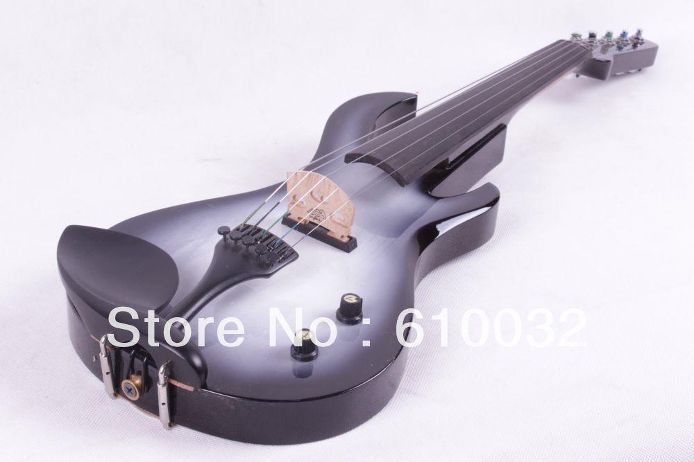 4/4 Violinë Elektrike Druri i ngurtë 20--29 # qafë kitare me ngjyra të bardha dhe të zeza 5 varg