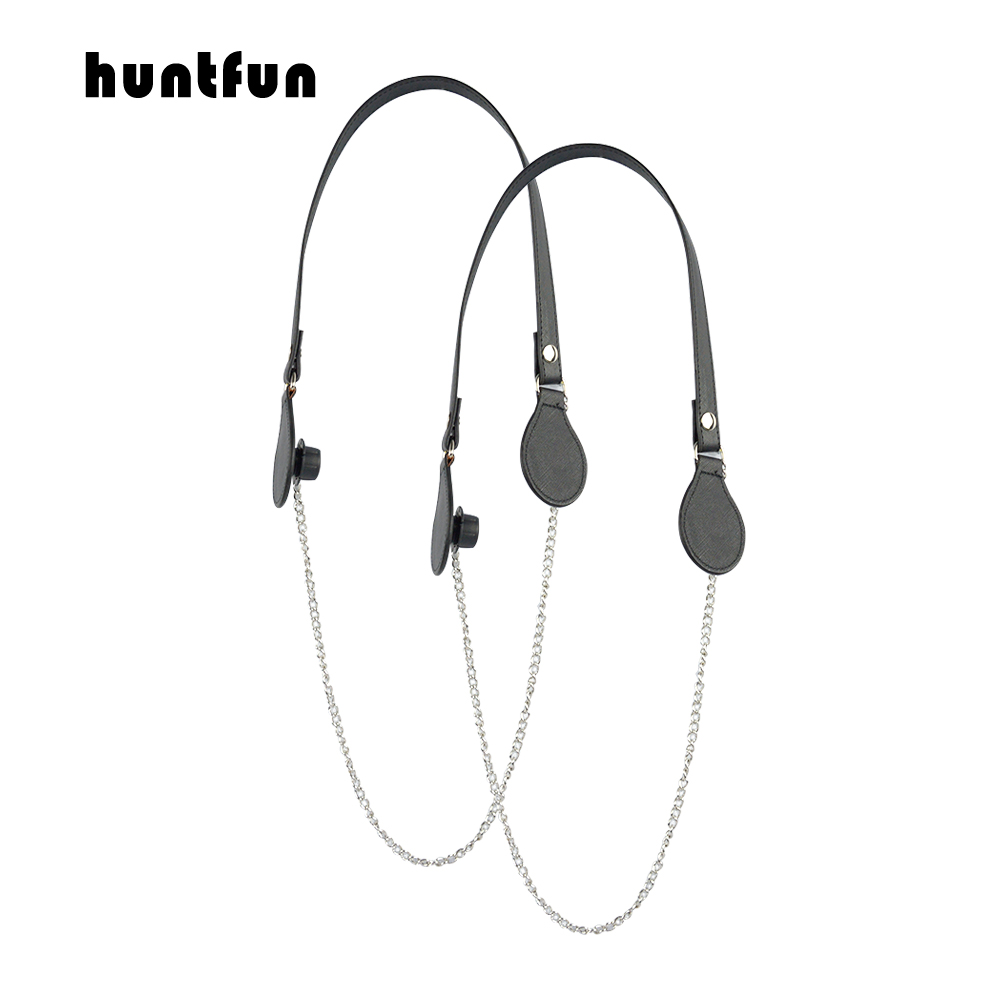 huntfun new 1 Pair long colorful Flat PU Belt Drop End with Long Chain OBag Handles For Obag EVA Obag Women Bag Shoulder HandBaghuntfun new 1 Pair long colorful Flat PU Belt Drop End with Long Chain OBag Handles For Obag EVA Obag Women Bag Shoulder HandBag