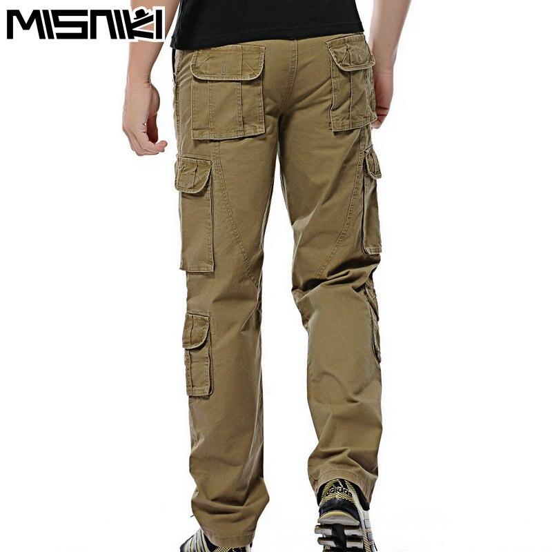 Misniki горячие модные мужские повседневные штаны хлопок multi-карман тактические брюки для мужчин