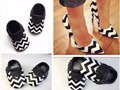 New arrived striped real leather baby moccasins lace-up soft sole Toddler First walker cute baby girls crib shoes